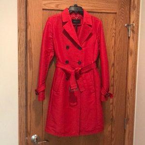 Poppy colored BCBGMaxazria coat